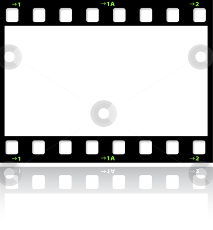 Filmstrip background stock vector clipart, Filmstrip background with reflection by Kirsty Pargeter