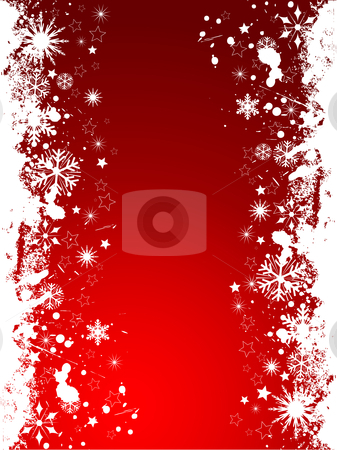 Grunge snowflakes  stock vector clipart, Grunge snowflake background by Kirsty Pargeter