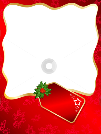 Christmas label background stock vector clipart, Christmas label background by Kirsty Pargeter