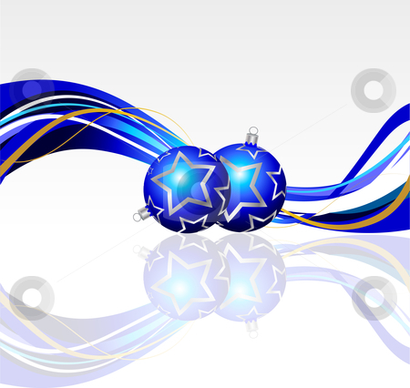 Christmas baubles  stock vector clipart, Christmas baubles background by Kirsty Pargeter