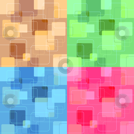 Retro squares stock vector clipart, Retro style backgrounds of square by Kirsty Pargeter
