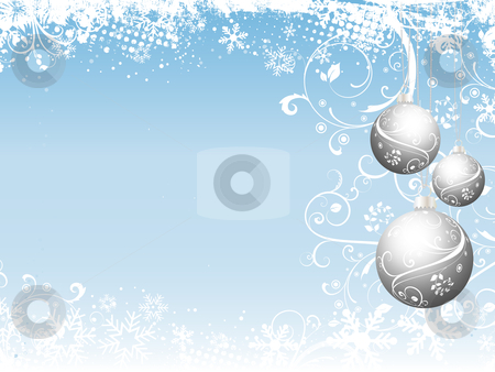 Christmas abstract stock vector clipart, Decorative Christmas background by Kirsty Pargeter
