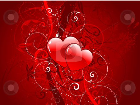Valentines background stock vector clipart, Decorative Valentines background by Kirsty Pargeter
