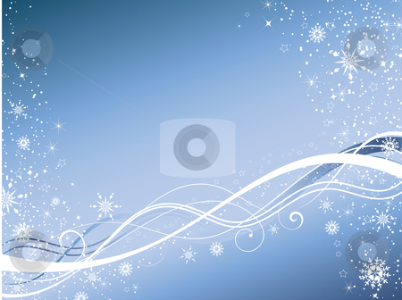Winter abstract stock vector clipart, Decorative winter abstract background by Kirsty Pargeter