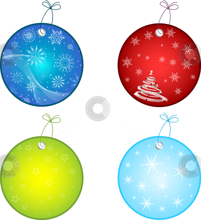 Christmas labels stock vector clipart, Labels with festive designs by Kirsty Pargeter