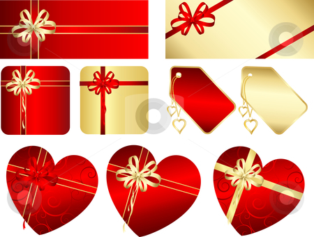 Gifts and labels stock vector clipart, Various Valentines day gift and labels by Kirsty Pargeter