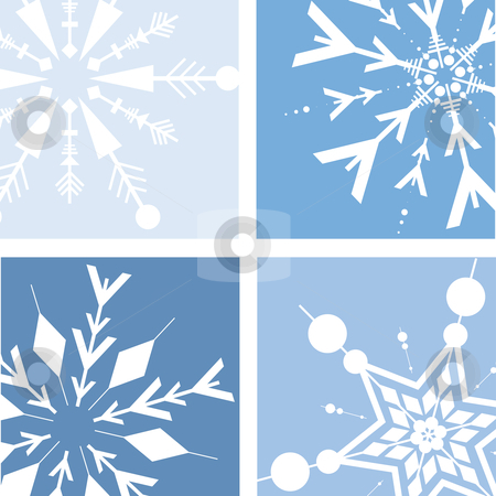 Retro snow stock vector clipart, Retro style snowflake background by Kirsty Pargeter