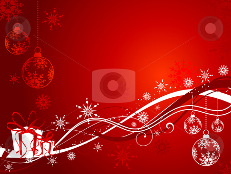 Christmas background stock vector clipart, Abstract Christmas background with gifts by Kirsty Pargeter