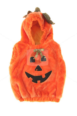 Halloween pumpkin costume stock photo, Very cute Halloween pumpkin costume for a child or toddler by Stacy Barnett