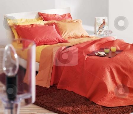 Bedroom stock photo, Studio photo shoot of modern bedroom by Anastasia Tsoupa