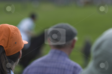 Eventing stock photo, Close-up on spectators of an eventing cross-country race by Andreas Brenner