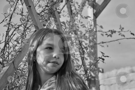 Beautiful girl stock photo, Beautiful girl in garden by Dragos Iliescu