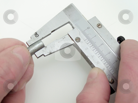 Calipers stock photo, The metal calipers tool calibrating by Sergej Razvodovskij