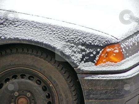 Snow car stock photo, Car at the parking under snow by Sergej Razvodovskij