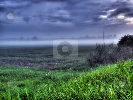 Continental Mist stock photo, Scene of the evening mist somewhere on the continent in Europe by Sinisa Botas