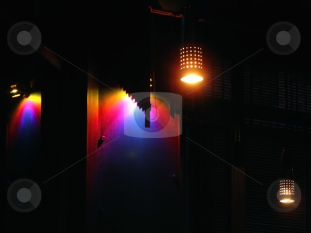 Club light stock photo, Thr club multicolored light in the dark by Sergej Razvodovskij