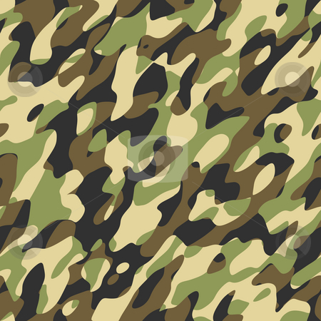 Camouflage stock photo, A camouflage pattern that will tile seamlessly by Norma Cornes