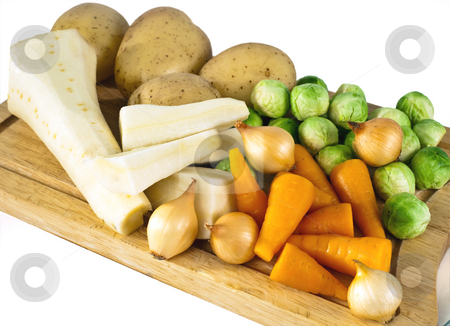 Vegetables stock photo, Raw vegetables ready to be prepared for a meal by Norma Cornes