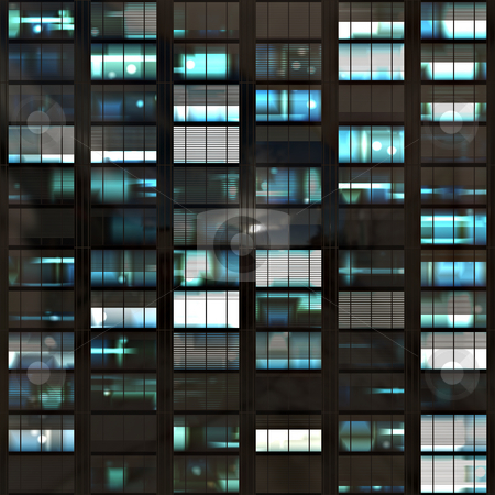 Windows stock photo, An illustration of a block of office windows that will tile seamlessly by Norma Cornes