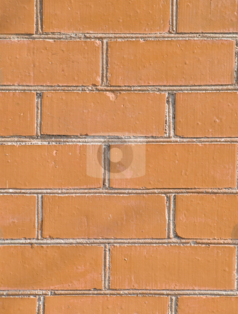 Brick wall stock photo, The urban build red brick wall background by Sergej Razvodovskij
