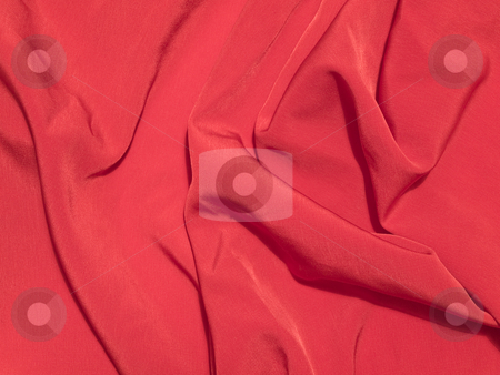 Red fabric stock photo, The red abstract fabric as a background by Sergej Razvodovskij