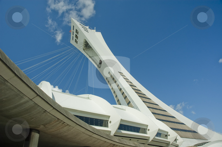 Stadium stock photo, Olympic Stadium of Montreal Quebec Canada by Vlad Podkhlebnik