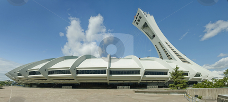 Stadium stock photo, Olympic Stadium of Montreal Quebec Canada by Vlad Podkhlebnik