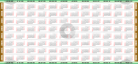 Full 8 year Calendar stock photo, Full 8-year from 2009 to 2016 calendar by Vlad Podkhlebnik
