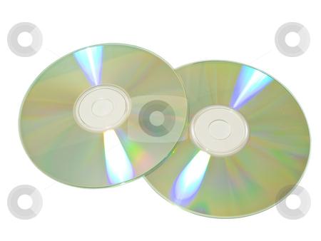 Two discs stock photo, Two isolated discs against the white background by Sergej Razvodovskij