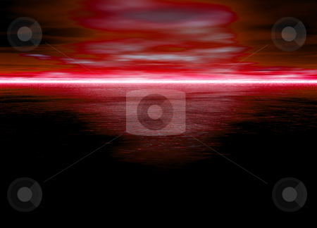 Beautiful Red Glowing Horizon at Night for Dawn or Sunset stock photo, Beautiful Red Glowing Horizon at Night for Dawn or Sunset by Robert Davies