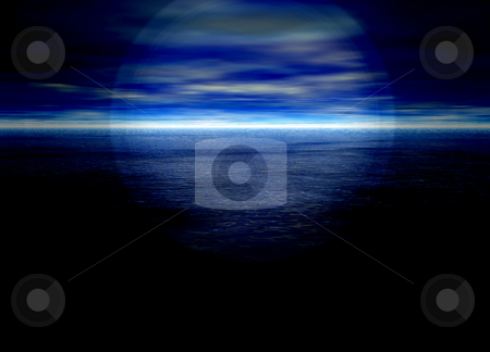 Bright Blue Distant Horizon Beautiful Background stock photo, Bright Blue Distant Horizon Beautiful Background by Robert Davies
