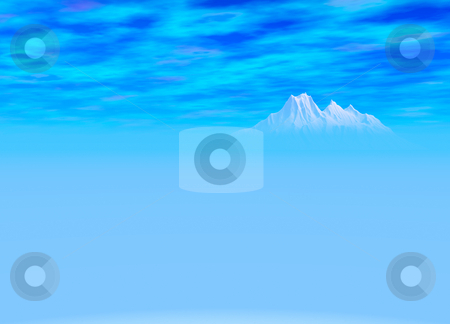 Deep Blue Landscape of Distant Mountain stock photo, Deep Blue Landscape of Distant Mountain on Horizon by Robert Davies
