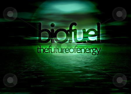 Biofuel Bioenergy The Future of Energy Text on Green Seascape Ho stock photo, Biofuel Bioenergy The Future of Energy Text on Green Seascape Horizon by Robert Davies