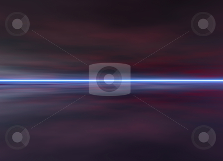 3d Rendered Night Distant Skyscape stock photo, 3d Rendered Night Distant Skyscape in Darkness by Robert Davies