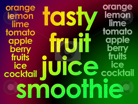 Glowing Tasty Fruit Juice Smoothie Text for Websites or Labellin stock photo, Glowing Tasty Fruit Juice Smoothie Text for Websites or Labelling by Robert Davies