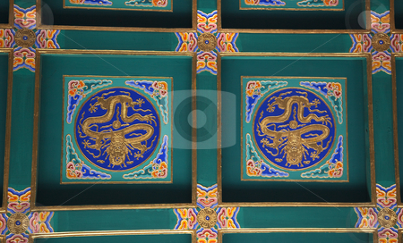 Dragon Ceiling Longevity Hill Tower of the Fragrance of the Budd stock photo, Dragon Ceiling Longevity Hill Tower of the Fragrance of the Buddha Summer Palace Beijing China by William Perry