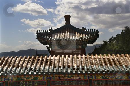 Ornate Gate Longevity Hill Summer Palace Beijing China stock photo, Ornate Gate Wall Longevity Hill Summer Palace Beijing China by William Perry