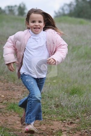 Girl running stock photo, Girl running by Gregory Dean