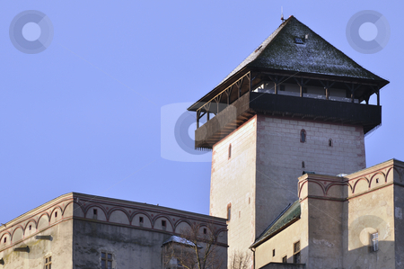 TOWER OF TRENCIN CASTLE  stock photo, Twilight on tower Trencin castle. by Patrik Ruzic