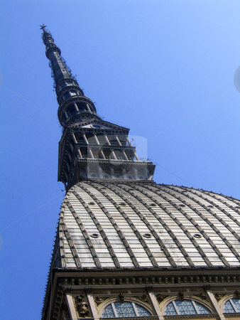 Mole antonelliana stock photo, A view of the symbol of Turin, the Mole antonelliana, home of the International Museum of Cinema by Alessandro Rizzolli
