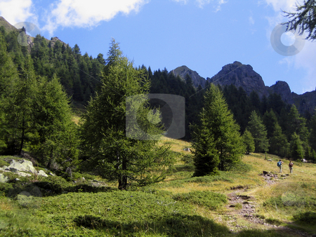 Trekking in the Alps stock photo,  by Alessandro Rizzolli