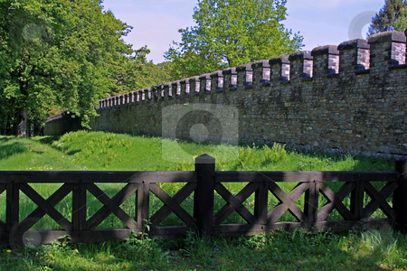 Saalburg Roman Fort stock photo, Saalburg Roman Fort, Bad Homburg, Germany;