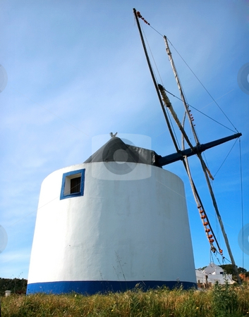 Windmill stock photo, Portuguese functional old windmill by Marc Torrell