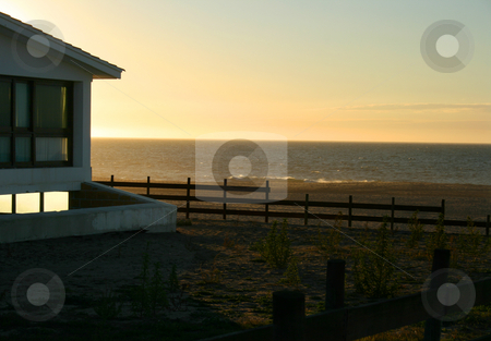 Beach houses stock photo, Fishermans house on the coast by Marc Torrell