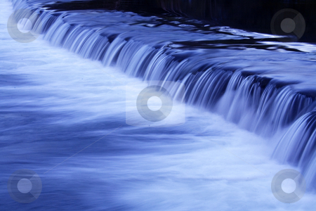 Water fall movement stock photo, Movement of a river waterfall by night by Marc Torrell