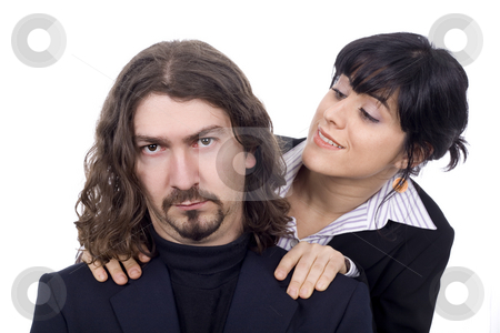 Woman and man business couple  stock photo, Woman and man business couple by Marc Torrell