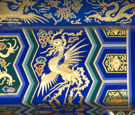Phoenix Detail Temple of Heaven Beijing China stock photo, Phoenix Detail Temple of Heaven Beijing China  Phoenix is the symbol of the Empress of China. by William Perry