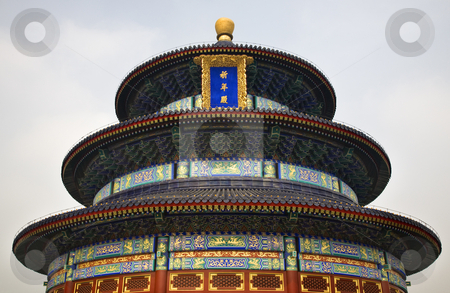 Temple of Heaven Beijing China stock photo, Temple of Heaven Beijing ChinaHall of Prayer for Good Harvests by William Perry