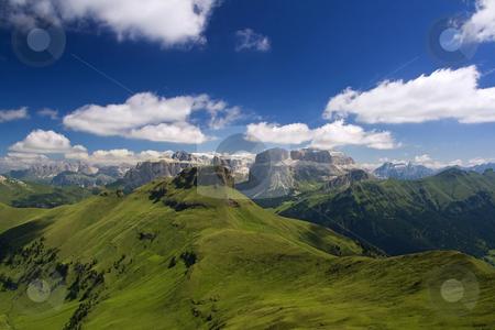 Dolomiti stock photo, Summer portrait of Italian Dolomites in val di Fassa by ANTONIO SCARPI