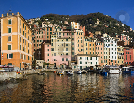 Little port of Camogli stock photo, Camogli is a  characteristic famous small town in Liguria near Genoa, Italy by ANTONIO SCARPI